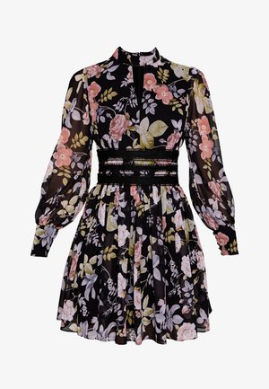 BODY WITH FLORAL PRINT - Vestito estivo - black
