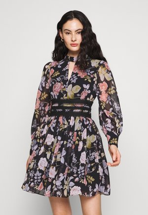 BODY WITH FLORAL PRINT - Kjole - black