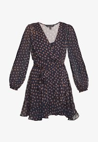 Forever New - WRAP DRESS WITH DITSY FLORAL PRINT - Vestido informal - black