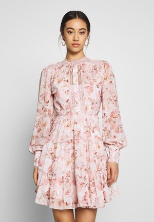 KAI CUT OUT BALLOON SLEEVE DRESS - Vardagsklänning - burnt sienna floral