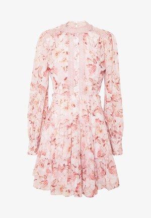 KAI CUT OUT BALLOON SLEEVE DRESS - Denní šaty - burnt sienna floral