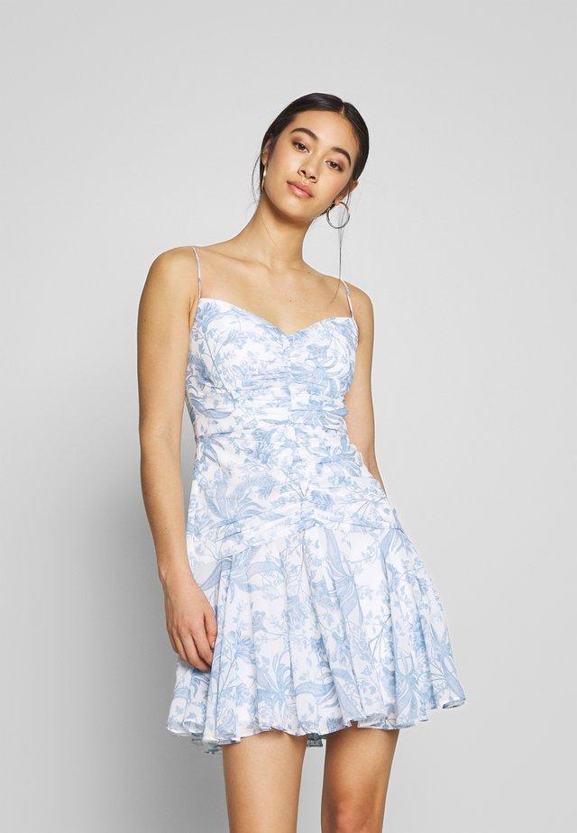 STRAPPY GATHERED SUNDRESS - Vestido informal - blue