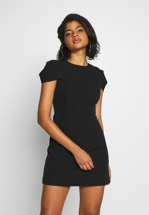 PETAL SLEEVE OPEN BACK SHIFT - Shift dress - blackporcelain