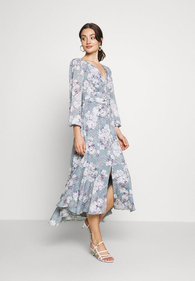 FLORAL HIGH-LOW - Maxiklänning - mint