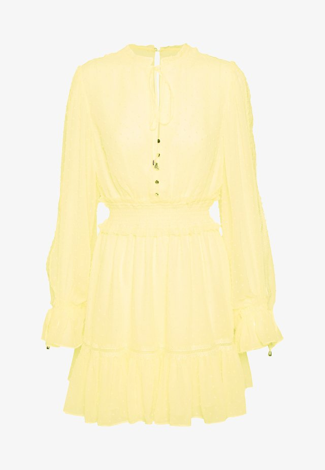 MACIE DRESS - Cocktailjurk - pastel yellow