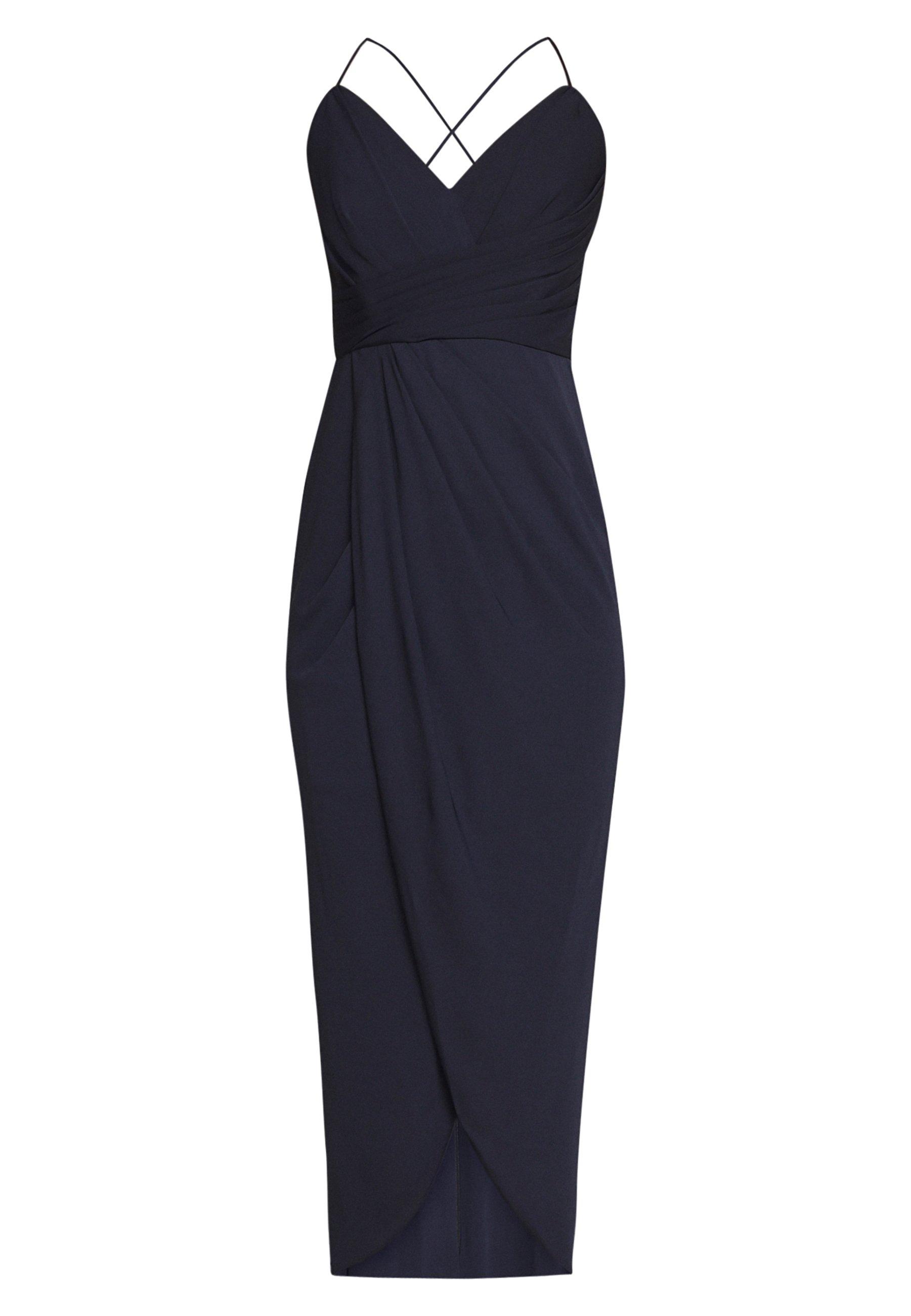 Forever New Charlotte Drape Maxi Dress - Robe Longue Navy