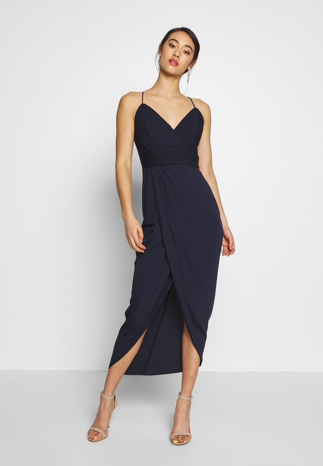 CHARLOTTE DRAPE MAXI DRESS - Maxi šaty - navy