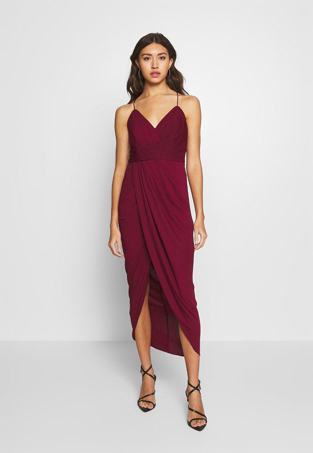 CHARLOTTE DRAPE MAXI DRESS - Vestido de fiesta - red shiraz