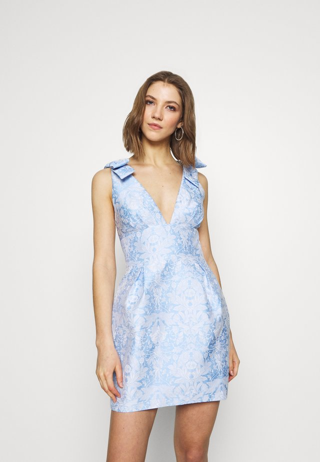 MINI DRESS - Vestido de cóctel - blue