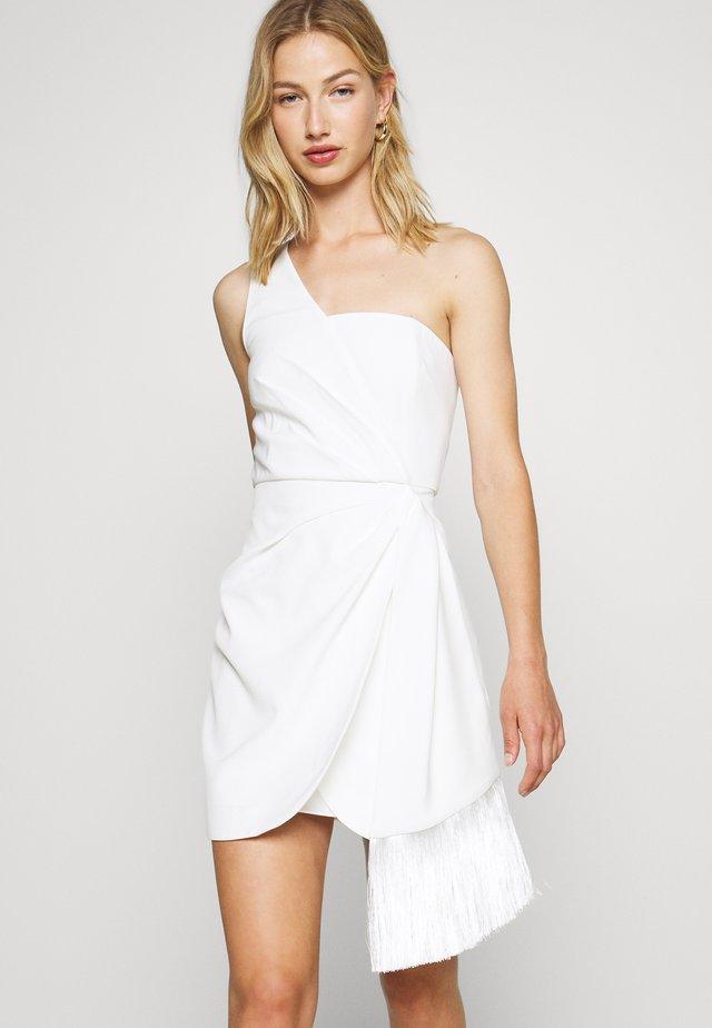 ASSYMETRIC MINI - Cocktail dress / Party dress - porcelain
