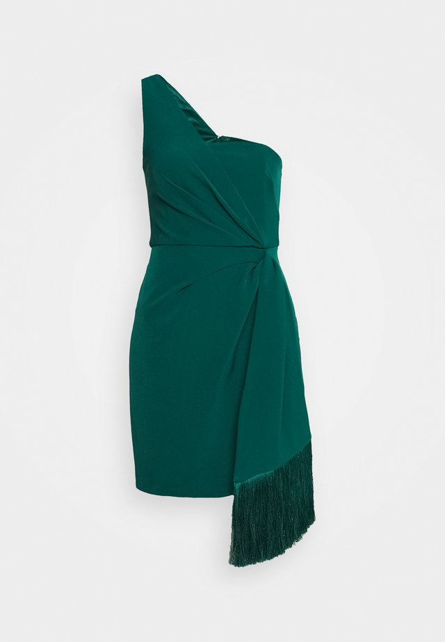 ASSYMETRIC MINI - Cocktailklänning - emerald