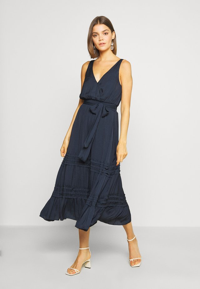 MICRO RUFFLE DRESS - Korte jurk - navy