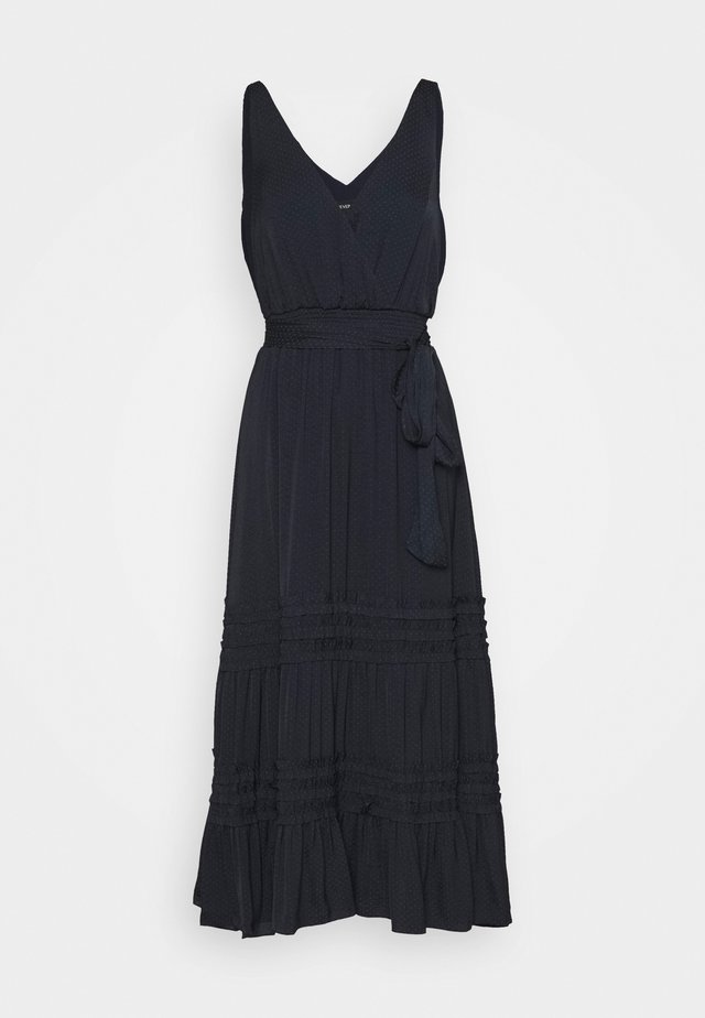 MICRO RUFFLE DRESS - Korte jurk - navy
