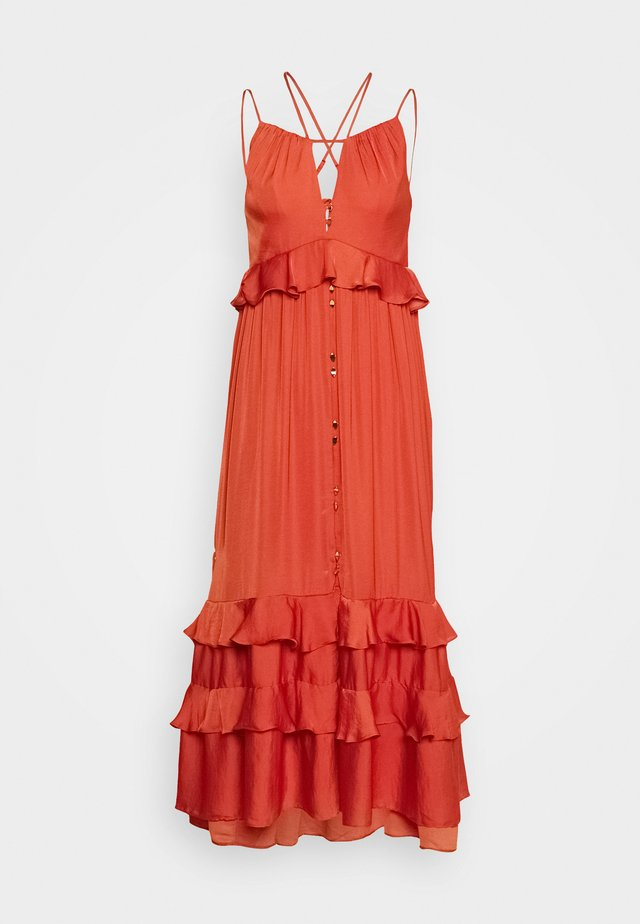 STRAP DETAIL - Vestido informal - orange
