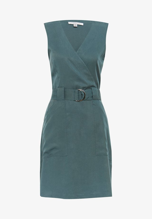 KATY SLEEVLESS D-RING DRESS - Hverdagskjoler - pine blues