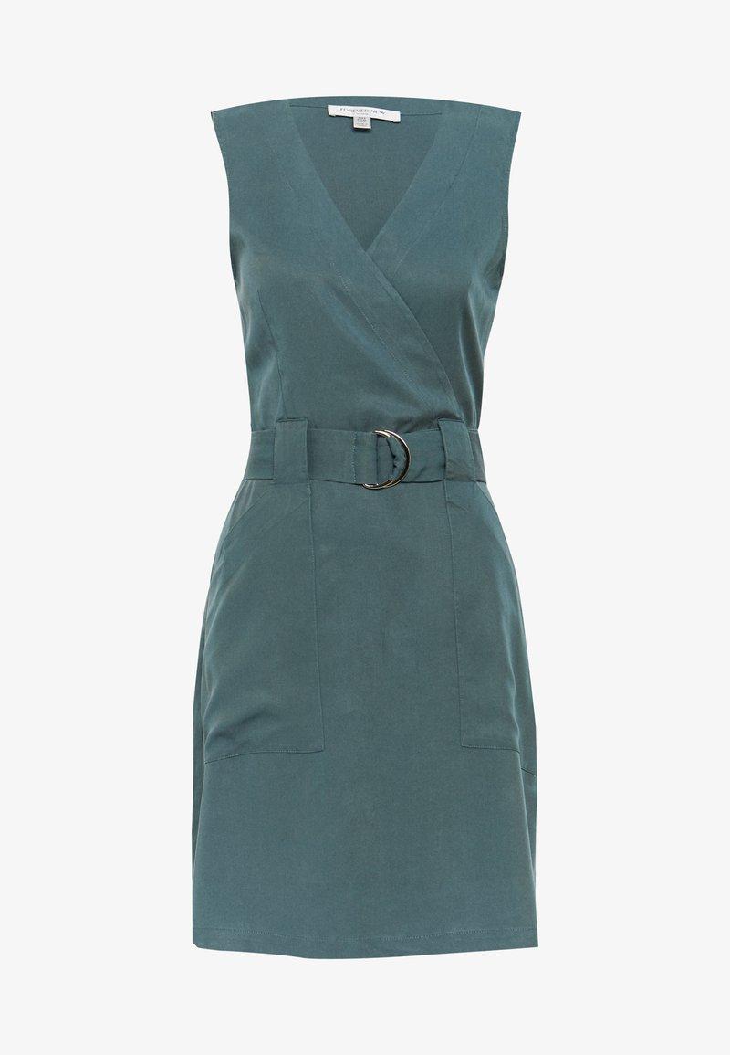 Forever New - KATY SLEEVLESS D-RING DRESS - Korte jurk - pine blues