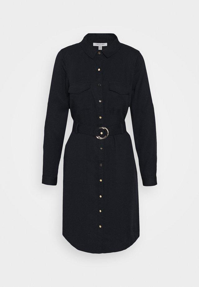 POTRIA BELTED SHIRT DRESS - Blousejurk - navy sails