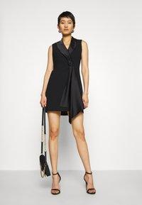 Forever New - DRAPE TUXEDO DRESS - Etuikjole - black - 1
