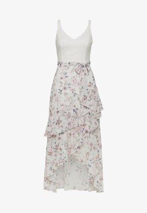 EVERLY WRAP FRILL MIDI DRESS - Day dress - off white