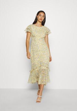 JOSEPHINE FLUTTER SLEEVE DRESS - Day dress - yellow