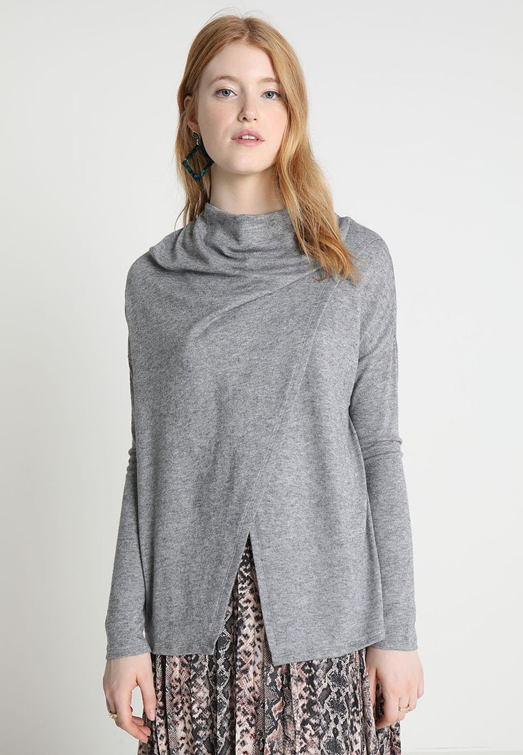 Forever New - PIPER CROSS NECK PONCHO - Jumper - grey