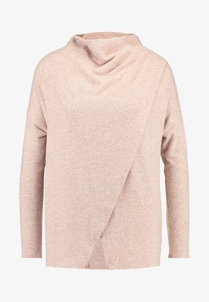 PIPER CROSS NECK PONCHO - Stickad tröja - blush
