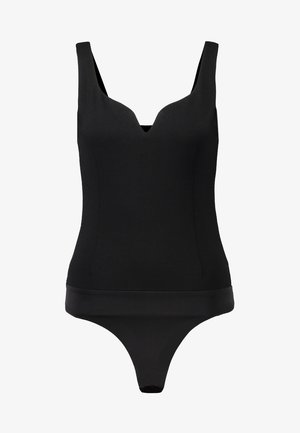 OCTAVIA SWEETHEART FITTED BODYSUIT - Top - black