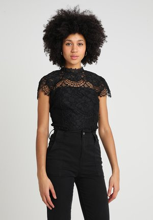 ALMIRA SCALLOP SLEEVE BODYSUIT - Blouse - black