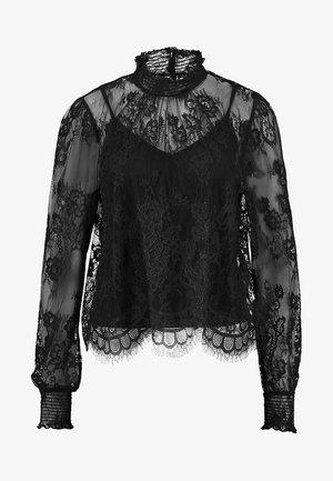 SCALLOP HEM - Blouse - black
