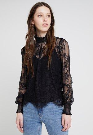 SCALLOP HEM - Blus - black