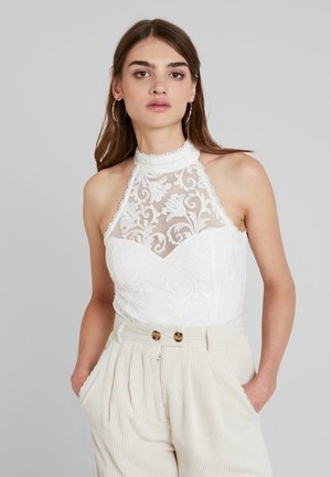 SERAPHINA HALTER NECK BODYSUIT - Top - porcelain