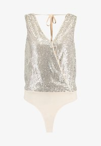 Forever New - SEQUIN WRAP BODYSUIT - Topper - champagne - 4