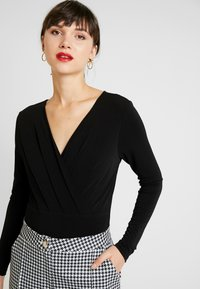 Forever New - LETTIE WRAP FRONT FITTED BODY - Long sleeved top - black - 3