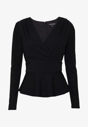 PUFF SLEEVE WAISTED - Långärmad tröja - black