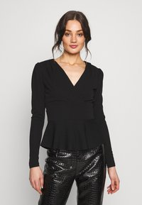 Forever New - PUFF SLEEVE WAISTED - Topper langermet - black - 0