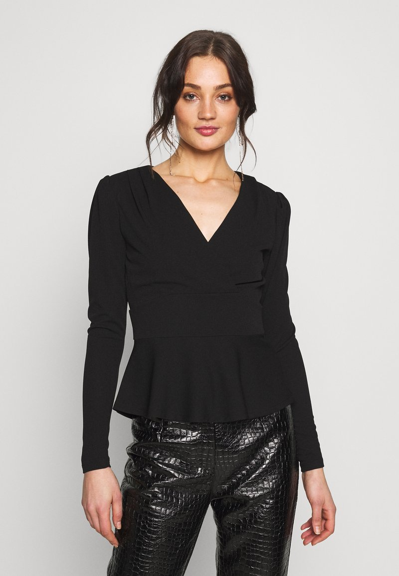 Forever New - PUFF SLEEVE WAISTED - Topper langermet - black