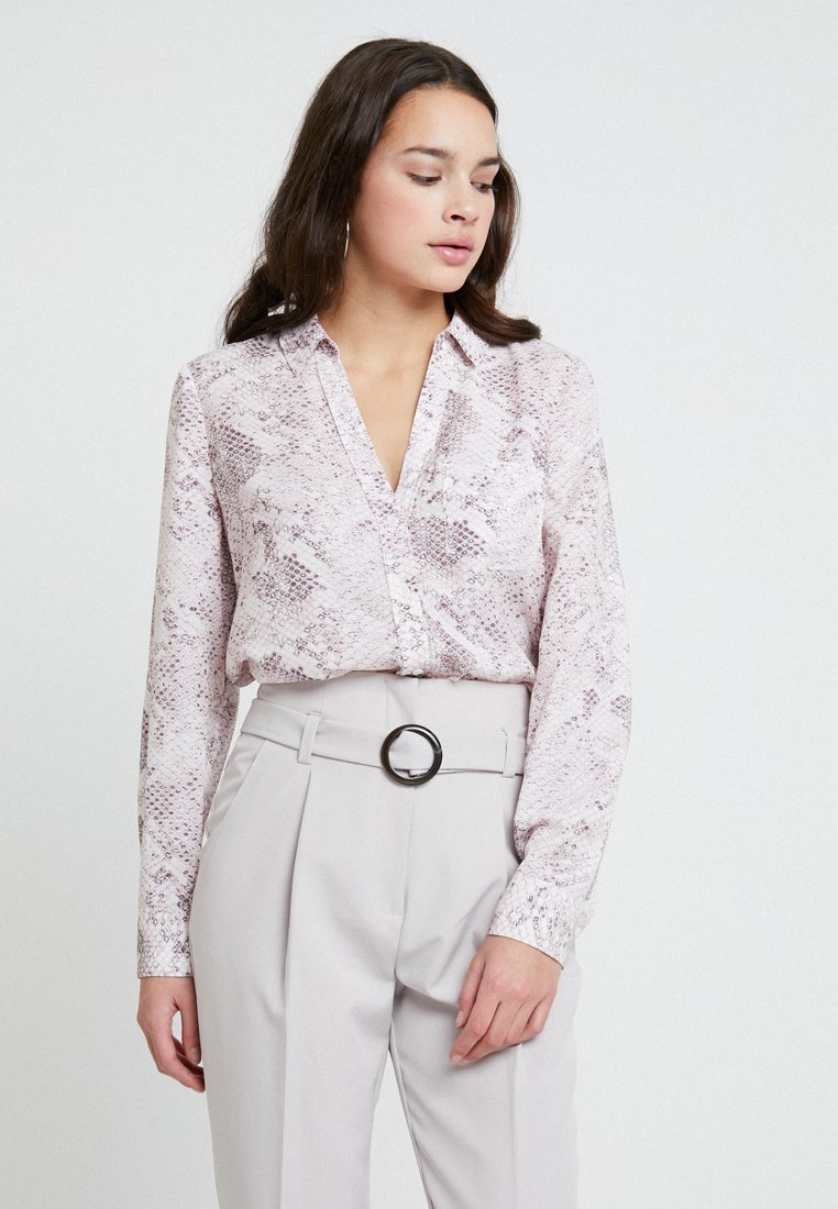 Forever New - MIKA SNAKE PRINT - Button-down blouse - white/pink