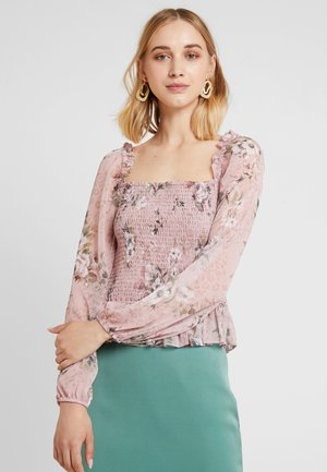 VAL SMOCKED - Blus - rose print