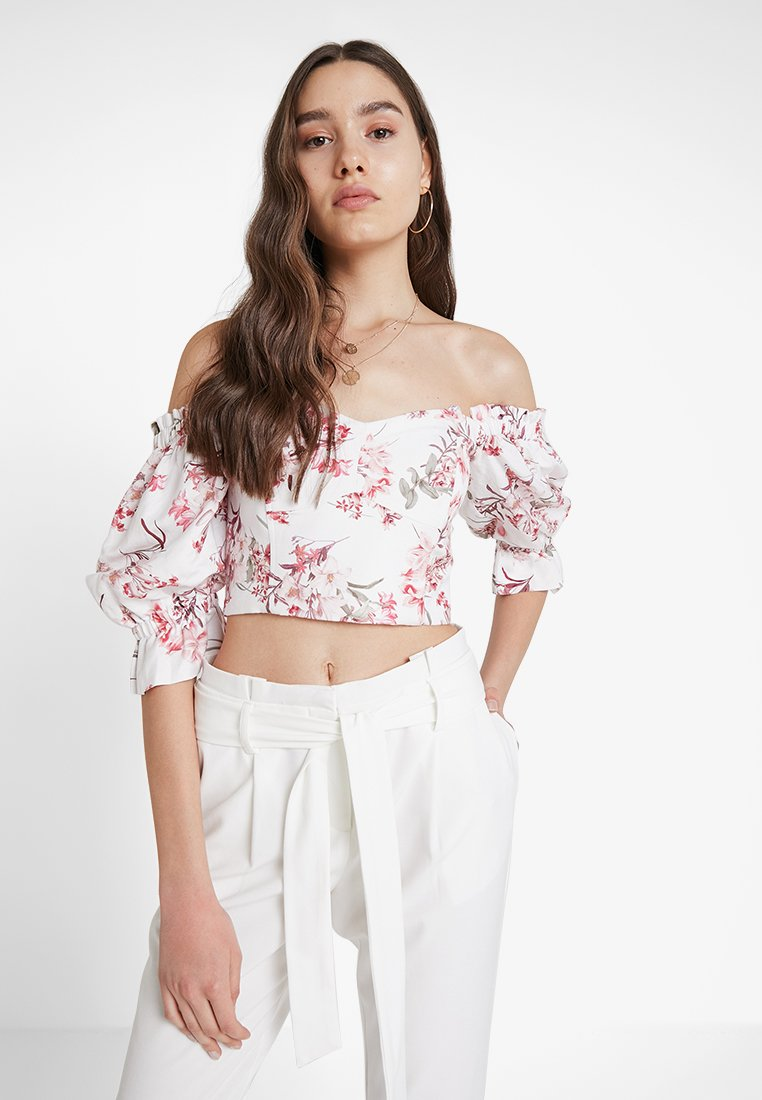 Forever New - PUFF SLEEVE BODICE - Bluser - tropical