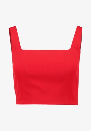 CARLY SQUARE NECK FITTED CROP - Blouse - red