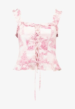 LACE UP CAMI - Toppi - light pink