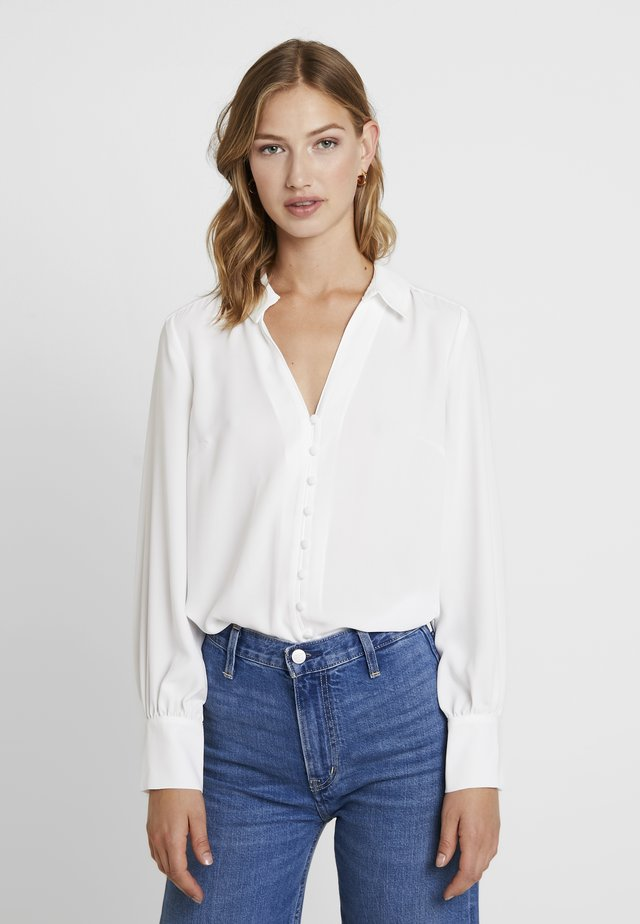 BUTTON FRONT RELAXED BLOUSE - Blouse - porcelain