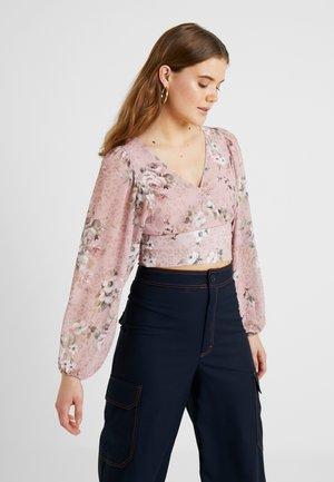 SIERRA TIE WAIST BLOUSON - Bluser - light pink
