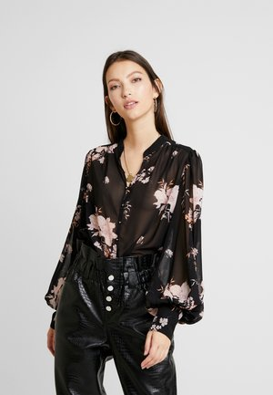 BELL SLEEVE FLORAL - Camicetta - black