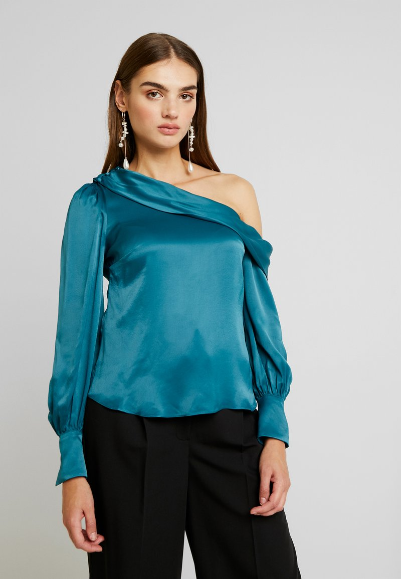 Forever New - KENDRA ASYMMETRICAL - Blusa - emerald
