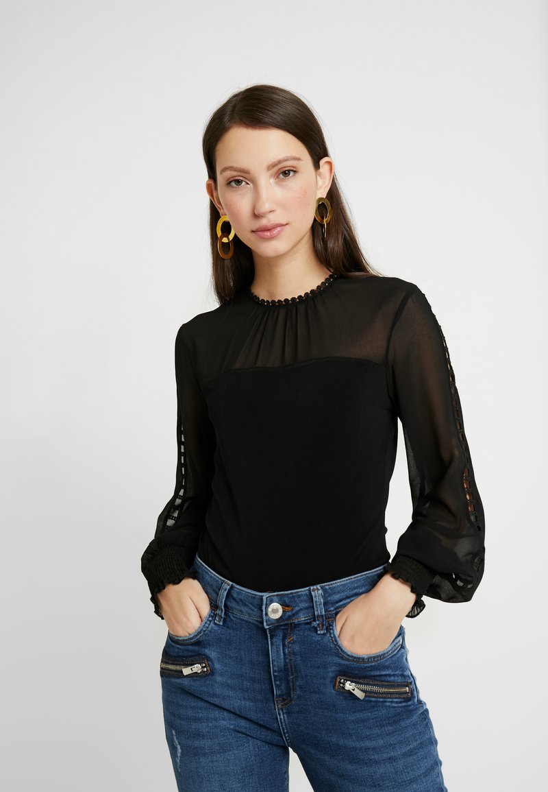 Forever New - SARAH SPLICED SHEER  - Blouse - black