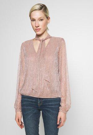 RITA WRAP BLOUSE - Blouse - pink metallic