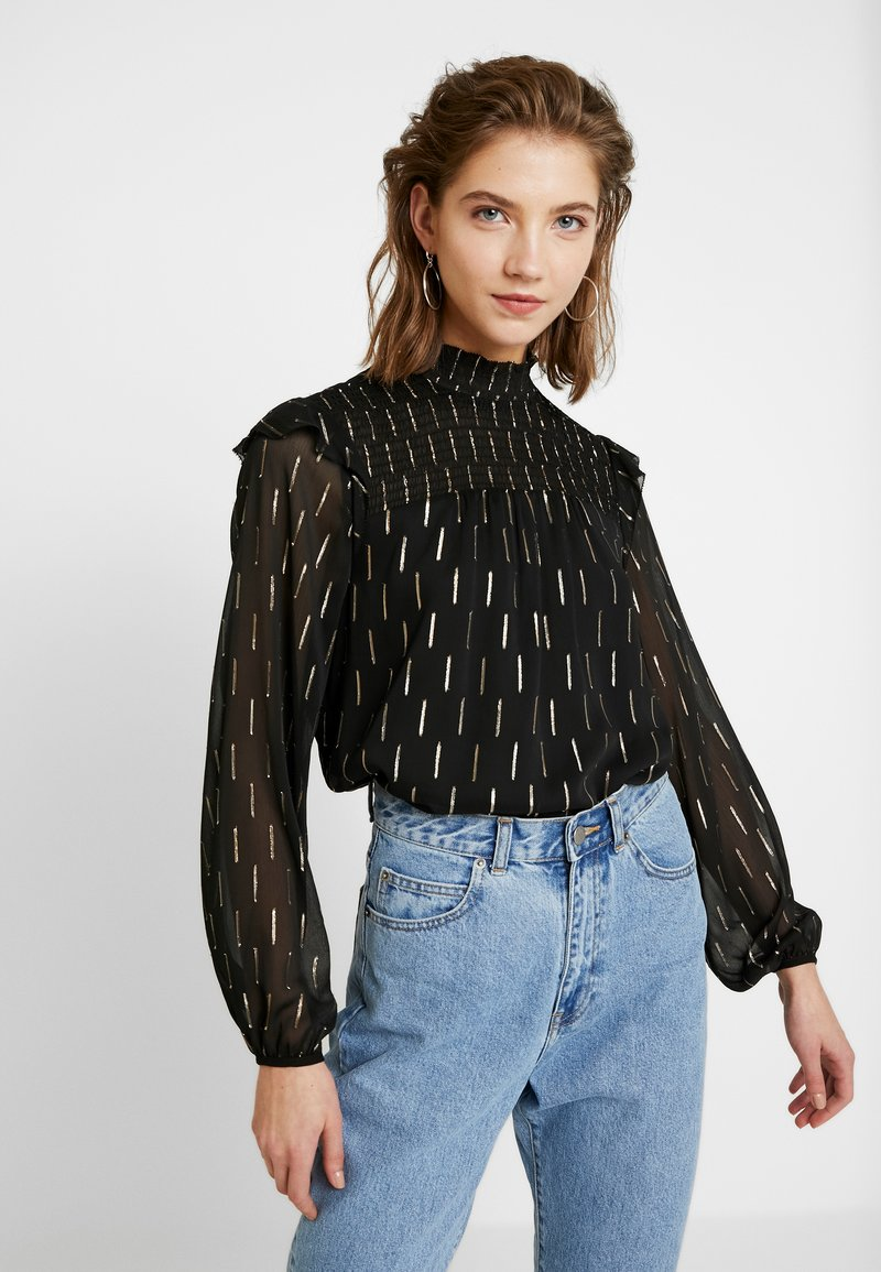 Forever New - TRUDY SMOCKED BLOUSE - Blusa - gold