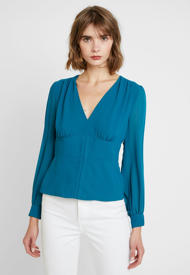 YASMIN FITTED BLOUSE - Blus - teal