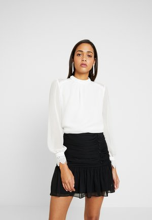 CHRISTINE HIGH NECK GATHERED BLOUSE - Blouse - porcelain